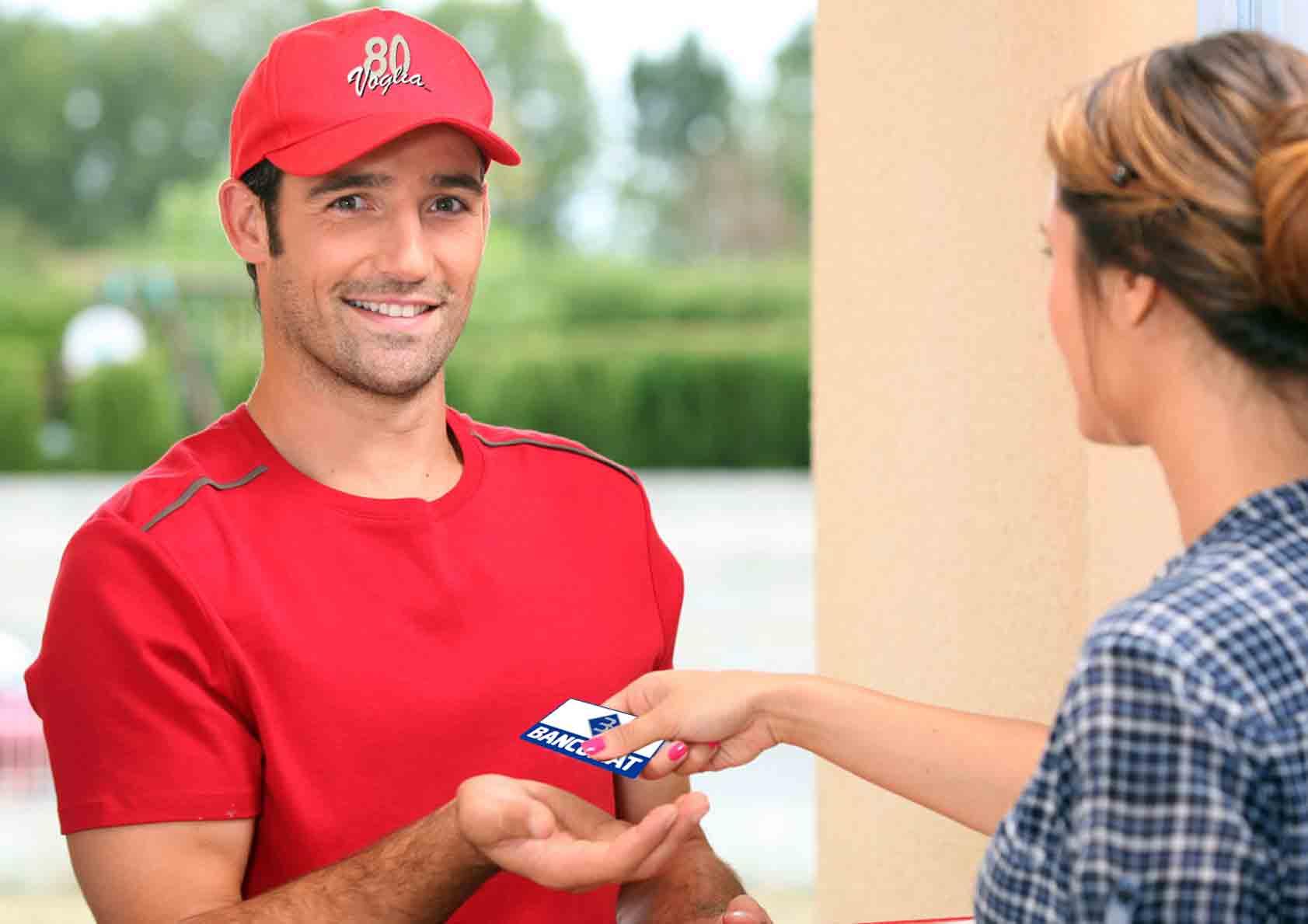 consegna a domicilio bancomat mantova